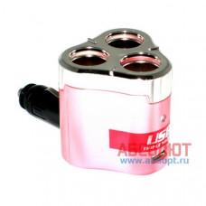 """Разветвитель прикуривателя X3 & USB """"IN-CAR.PRO"""" WF-0308"""